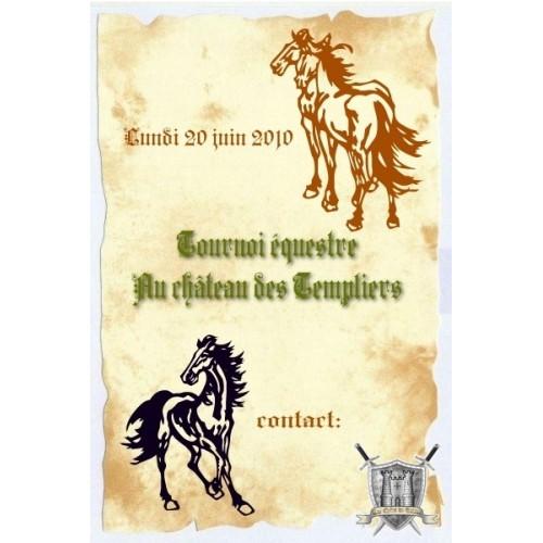parchemin tournoi equestre