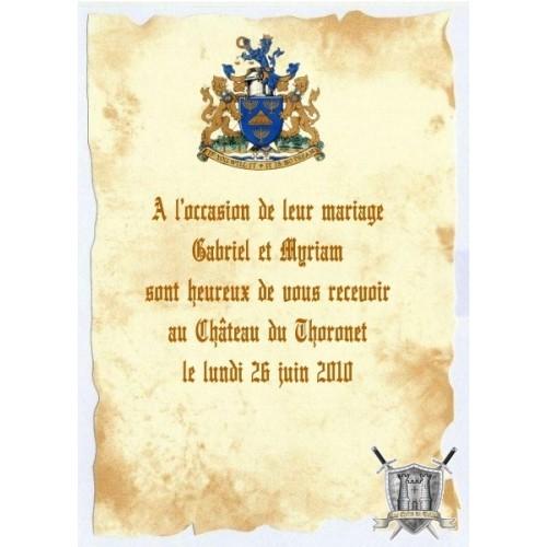 parchemin invitation mariage