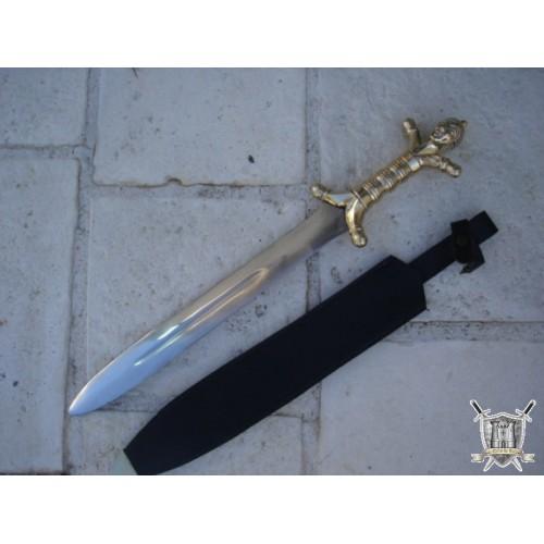 épée CELTE poignée personnage bronze