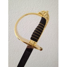 Epée  de cérémonie fourreau noir