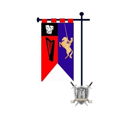 banniere sur mesure pour chevalier