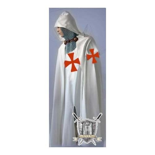 ensemble cape et tunique avec la croix rouge