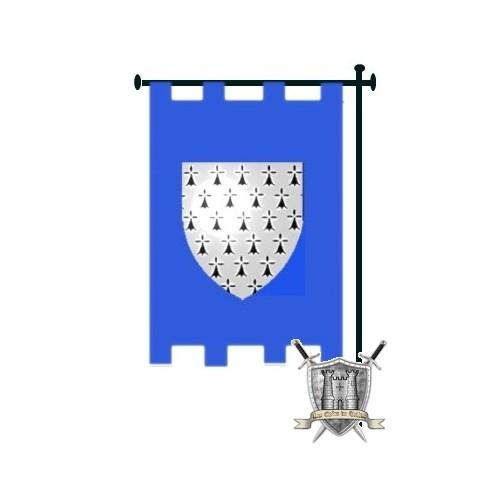 banniere à créneaux bleue