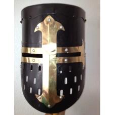 heaume de chevalier noir