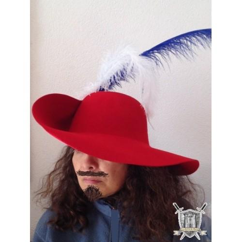 chapeau mousquetaire avec plumes