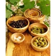 4 Bols en bois d'olivier