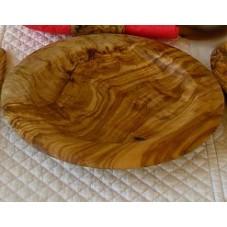 assiettes  rondes en bois d'olivier