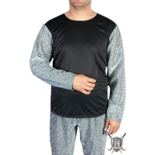 chemise mailles métalliques