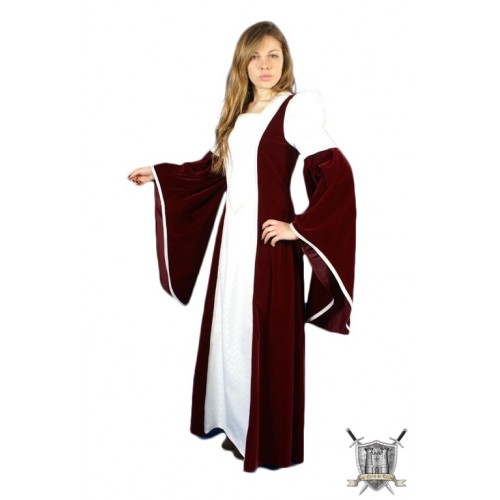 vêtement medieval dame Blanca