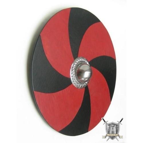 bouclier viking recouvert en simili cuir