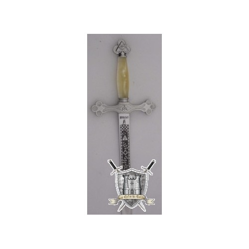 Epée maçonnique métal argenté poignée nacre