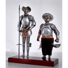 DonQuichotte et Sancho Pansa 42 cm