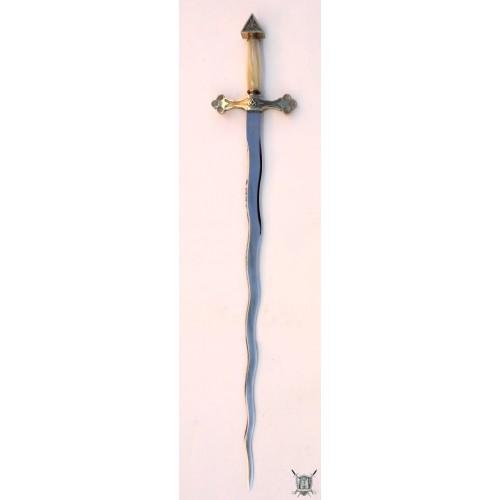 épée flamigera nacre et laiton