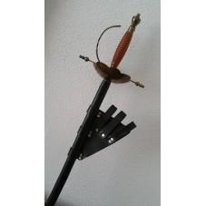 fleuret de duel bronze avec baudrier cuir