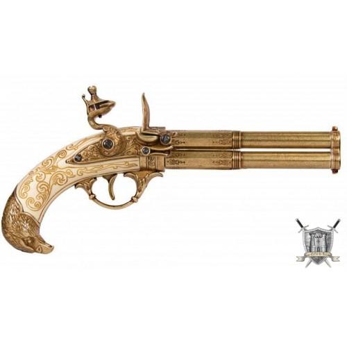 Pistolet double canon XVIII eme