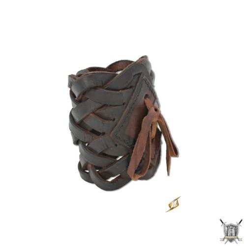 Bracelet tressé brun
