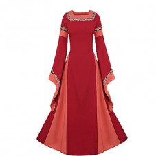 Robe médiévale bi-colore