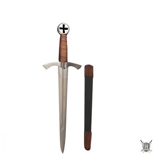 Dague médiévale de templier avec fourreau