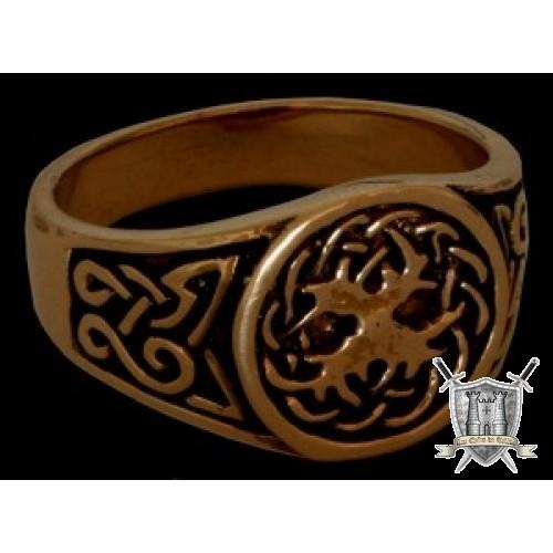 Bague celtique Yggdrasil, bronze