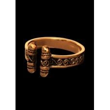 Anneau viKing avec spirales bronze