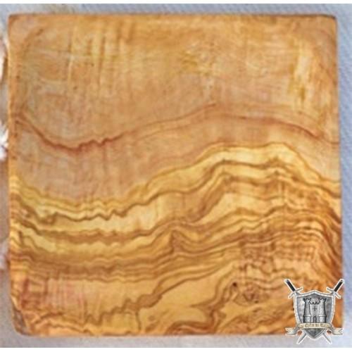 assiète carrée olivier 20x20 cm