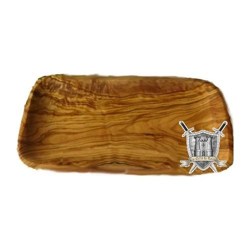 Plat en bois d'olivier 24x15 cm