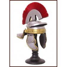 casque de centurion en acier miniature