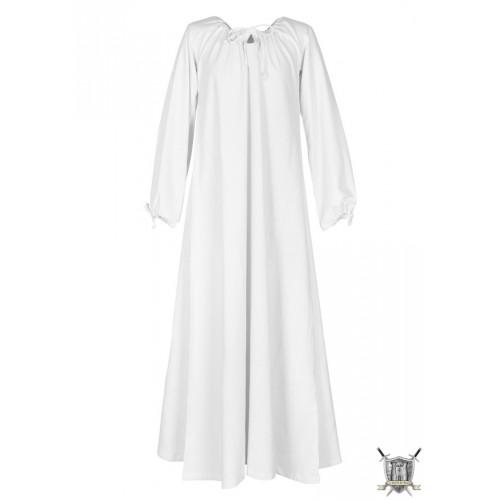 Robe médiévale blanche 100% coton