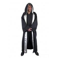Manteau de mage noir argenté