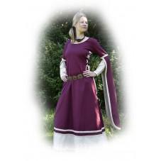 Robe médoévale de Dorothée coton et lin