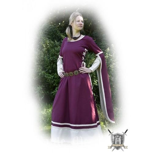 Robe médiévale de Dorothée coton et lin