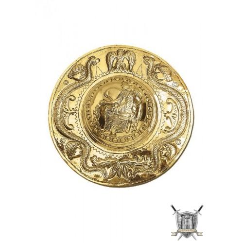 Umbo bouclier  romain laiton 24 cm