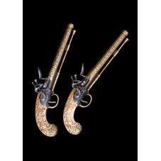 2 pistolets de duel du 18ème siècle