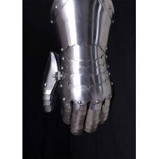 Gabtelets en acier avec gant cuir