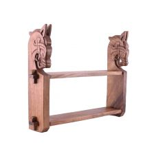 Etagère en bois avec des têtes de Dragon Viking