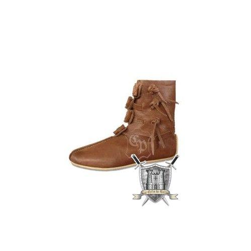 Chaussures viking Thor en cuir marron clair
