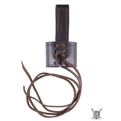 Support de ceinture réglable  cuir marron