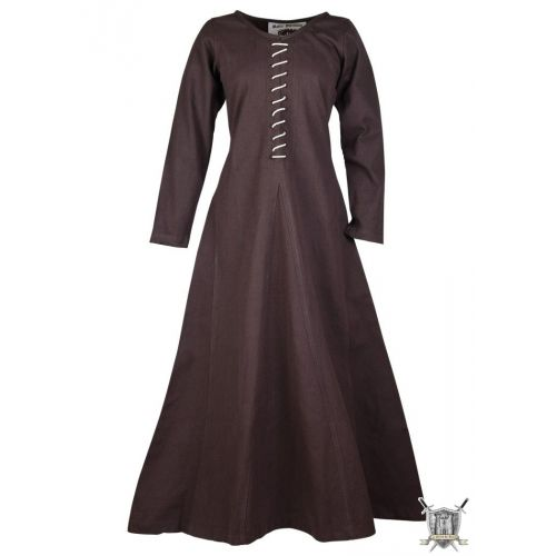 robe médiévale en coton manches longues