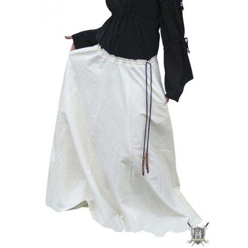 Jupe médiévale large 100% coton plusieurs couleurs