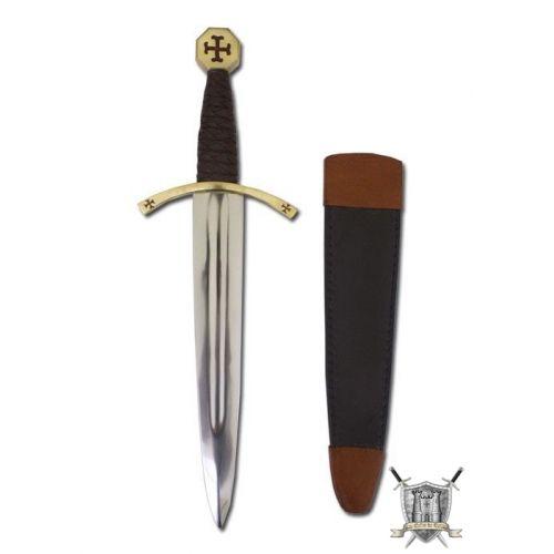 Dague templière et fourreau 44.5 cm