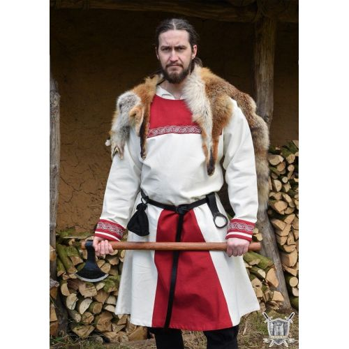 Tunique viking avec broderies