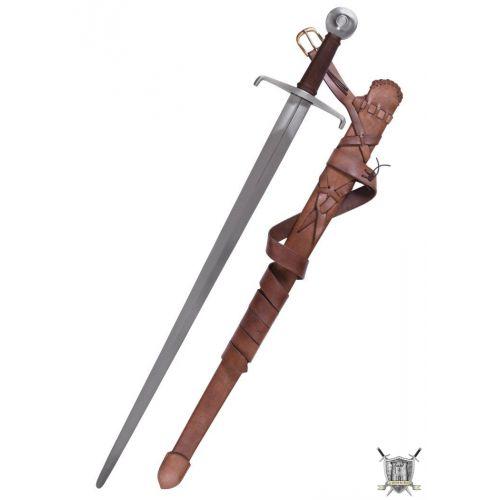 Epée de combat 14ème siècle avec fourreau