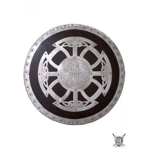 Bouclier viking bois et acier pour le combat