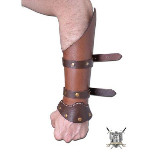 Protège avant-bras plein cuir