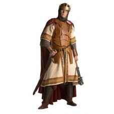 Armure royale en cuir, sa tunique et sa cape pure laine