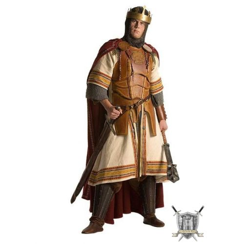 Armure royale en cuir, sa tunique et sa cape pure laine