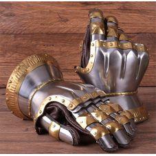 Gantelets hourglas  garniture laiton, fait main à partir de 1,6 mm acier
