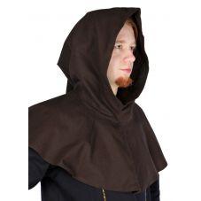 capuche médiévale marron 100 coton