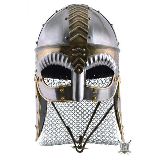 casque viking avec joues et mailles