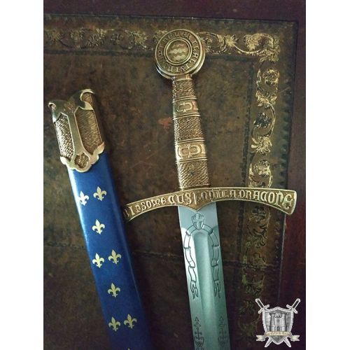 Epée Royale à la fleur de Lys acier avec fourreau